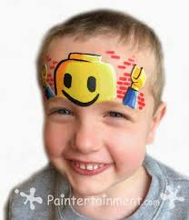 lego facepainting for boys and girls who love legos great boy