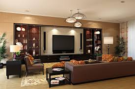 Modern Home Theatre Room Style Designs For Living Room RooHome - Living room with home theater design