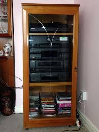 Stereo Cabinet Glass Door Wood Cabinet With A Glass Door Including Pioneer Stack Stereo In