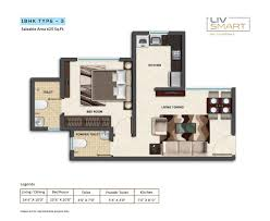 2 bhk 880 sq ft apartment for sale in dheeraj liv smart at rs