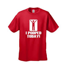I Pooped Today Meme - funny t shirt mens tshirt i pooped today short sleeve red size
