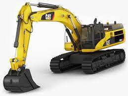 excavator cat 345 dl 3d asset cgtrader