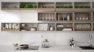 keeping your kitchen neat with open shelving goodcall com