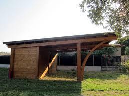 tettoia auto legno tettoia per posti auto con box posteriore rb02210