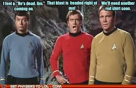 Red Shirt Star Trek Meme - redshirts by john scalzi