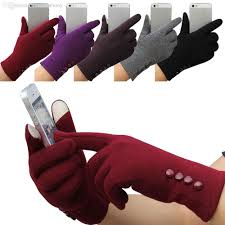 2017 sale womens winter gloves mittens 4 buttons touch screen