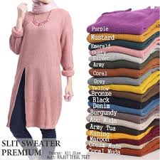 slit sweater slit sweater premium 7get elevenia