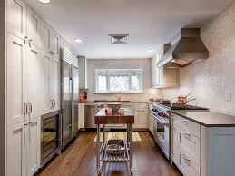 galley kitchen extension ideas butcher block cart in kitchen contemporary with kitchen island