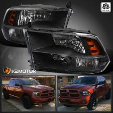 dodge ram black 2009 2017 dodge ram 1500 2500 3500 black headlights ls