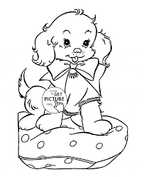cute puppy coloring page for kids animal coloring pages