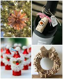 wine cork snow ornament the hats are made from a