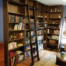 Library Bookcases With Ladder Rockler Vintage Black Rolling Library Ladder Hardware Rockler
