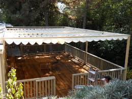 built frame and fabric shade structure