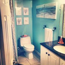 Beach Bathroom Decor by Excellent Decorating Ideas Using Rectangle Brown Wooden Tables And