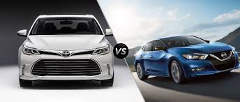 toyota avalon 2016 toyota avalon vs 2016 nissan maxima