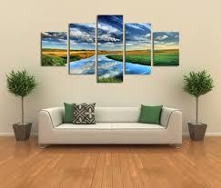home decor artwork metallic abstract paintings 3 panel custom