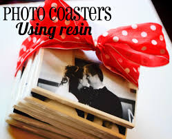 photo tile coasters using resin oopsey daisy