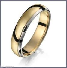 mens two tone wedding band grooved two tone wedding band in 14k white yellow gold