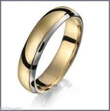 mens two tone gold wedding bands simon g 14k two tone 6 mm white and yellow gold wedding band with