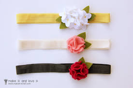 felt headbands wool felt hair accessories for baby make it and it