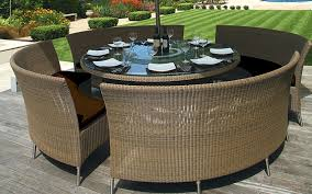 Stunning Round Patio Furniture Ideas Interior Design Ideas - Round dining table with wicker chairs