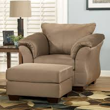 Upholstered Club Chairs by Signature Design By Ashley Darcy Mocha Contemporary Upholstered
