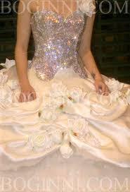 glass crystal corset u0026 romantic cream roses 3 metre wide wedding dress