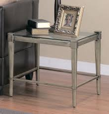 Glass End Tables For Living Room Good Metal And Glass End Tables 24 In Home Decorating Ideas With