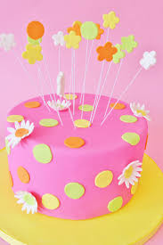girl birthday mod cakery girl birthday cakes pink dots and flowers sweet