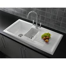 wickes belfast 1 bowl kitchen sink ceramic white modern kitchen