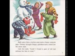 frosty snowman story book record