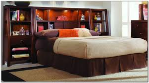 Bookcase Bed Frame Full Size Storage Bed With Bookcase Headboard And Storage Bed