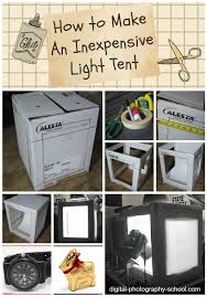 how to make an inexpensive light tent diy