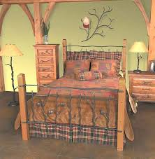 Wood And Iron Bedroom Furniture Rustic Headboards Size Rustic Sassafras Bed Frame And