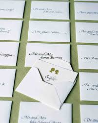 classic seating cards and displays martha stewart weddings
