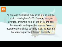how much does an apartment cost per month how much does electricity cost per month youtube