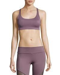 light purple sports bra onzie chic strappy low impact sports bra light purple neiman marcus