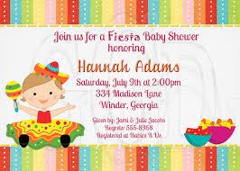 fiesta baby shower invitation sprinkle or birthday