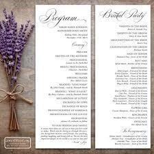 Wedding Program Board 9 Best Printable Wedding Programs Images On Pinterest Program
