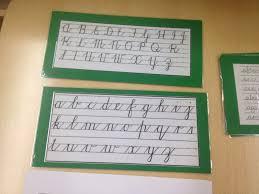 the learning ark elementary montessori cursive writing set