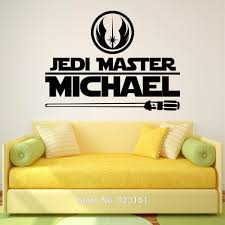 stickers sun picture more detailed about star wars jedi star wars jedi master personalized name wall art stickers decal home diy decoration mural bedroom