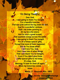 thanksgiving prayers and poems on being thankful mattie j t stepanek foundation