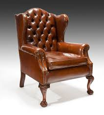 Leather Wing Back Chairs Wing Chairs 18th Century The Uk U0027s Premier Antiques Portal