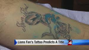 detroit lions fan gets bold u0027super bowl champs u0027 tattoo
