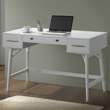 coaster fine furniture writing desk mid century modern writing desk with 3 drawers coaster 800745