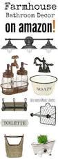 Amazon Bathroom Accessories by Best 25 Farmhouse Bathroom Accessories Ideas On Pinterest Diy