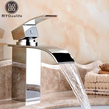 Free Shipping Wholesale And Retail Deck Mount Waterfall Bathroom Bathroom Fixtures Wholesale