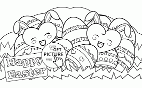 happy easter eggs coloring page for kids coloring pages