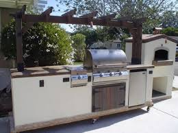 exceptional outdoor kitchen island on wheels of 3 burner natural