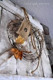 Barbed Wire Home Decor Barb Wire Wreath Barb Wire And Burlap Welcome Wreath Rustic